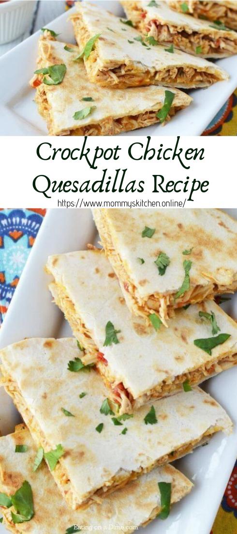 Crockpot Chicken Quesadillas Recipe #healthyfood #dietketo