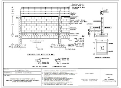 MANA BADI NADU-NEDU Compound Wall Foundation .. Blue Print