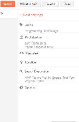 Meta tag for blog page