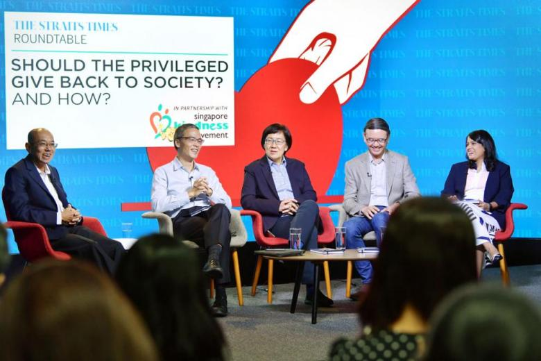 Panel discussion on privilege in Singapore and giving back to society raises key issues