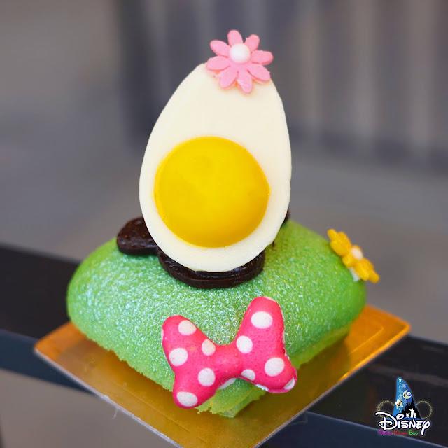 Hong Kong Disneyland, 香港迪士尼樂園 2021年特色春季甜品記錄「香脆焦糖忌廉 配 香草蛋糕」及「蛋白餅 配 檸檬蛋糕」