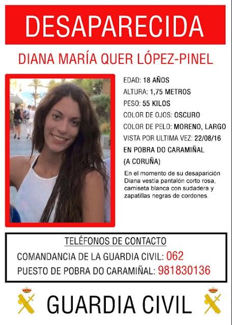Continúa la búsqueda de la joven de 18 años desaparecida en Galicia