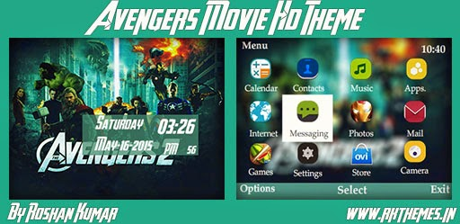 Avengers Movie HD Theme For Nokia C3-00, X2-01, Asha 200