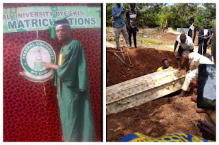 Protesting FUOYE Student Killed By Police, Buried Amidst Tears (Photos)