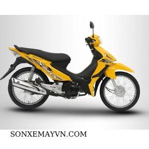 Bán Sơn xe máy SUZUKI màu vàng