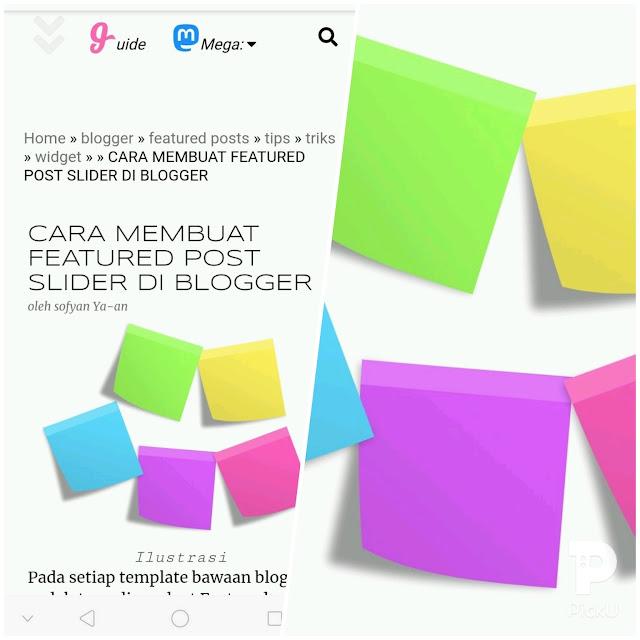 Menu navigasi blogspot yang mobile dan responsive