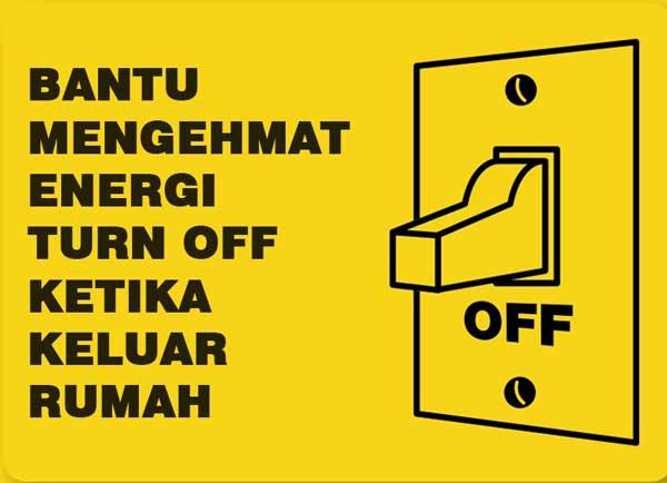 12 Contoh Poster Tentang Hemat Energi Listrik Serta Slogan Grafis Media
