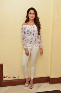 Pragya Jaiswal Latest Pictures in White Denim Jeans at Nakshatram Movie Teaser Launch