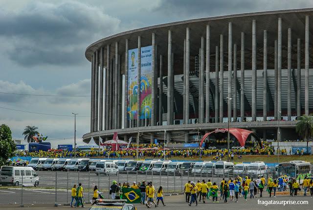 Estádio Mané Garrincha na Copa do Mundo de 2014