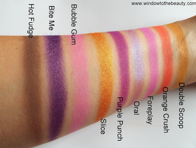 Jeffree Star Cosmetics Mini Breaker all shades swatches