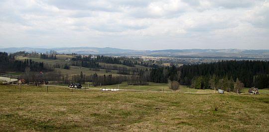 Widok na dolinę Czarnego Dunajca.
