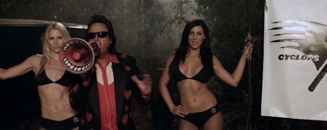 Monster Brawl (2011) Review - Jimmy Hart with his ring girls