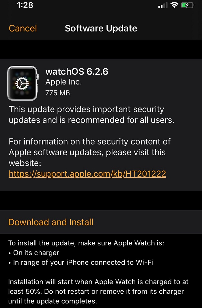 watchOS 6.2.6 Features