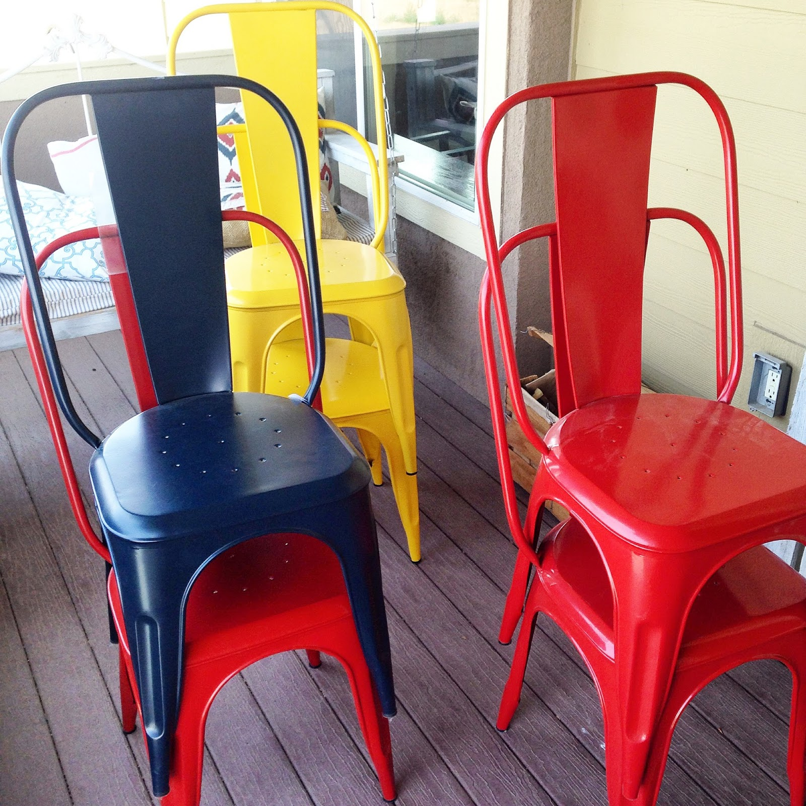 New World Market Metal Dining Chairs