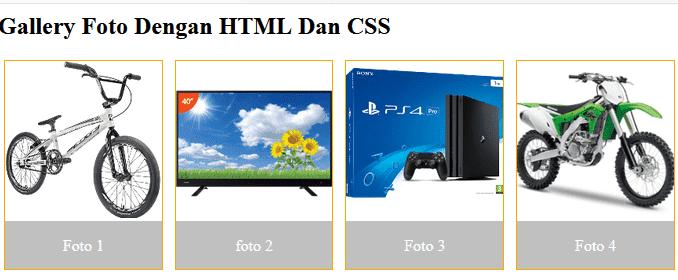 membuat gallery foto dengan html dan css