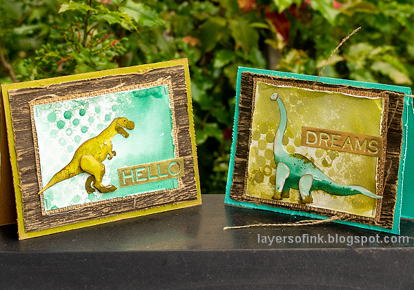 Layers of ink - Dinosaur Cards Tutorial by Anna-Karin Evaldsson.