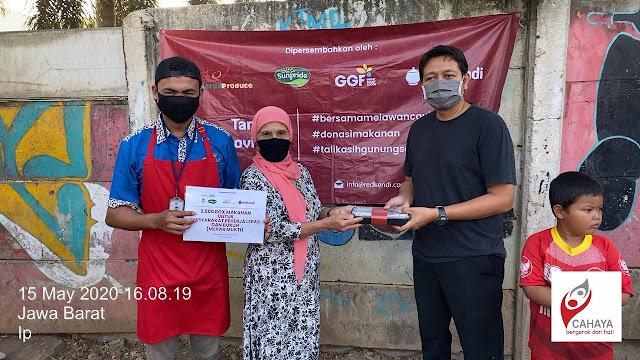 Cahaya Foundation Bantu Distribusikan Donasi Makanan Redkendi