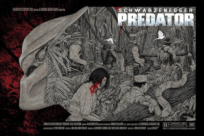 Predator Movie Poster Variant Screen Print by Timothy Pittides x Bottleneck Gallery