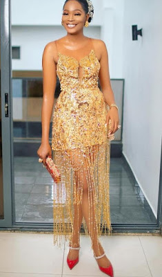 latest sequin gown styles