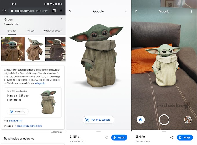 Baby Yoda arrives at home in 3D with Google's augmented reality