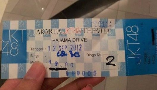 tiket theater jkt48 2011 2012