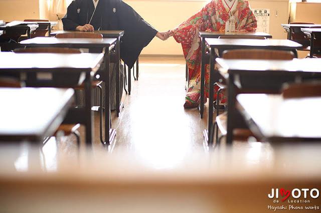 母校での前撮りロケーション撮影|もうひとつの結婚式