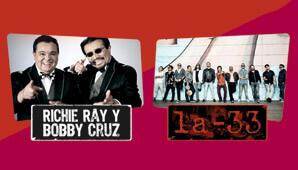 Concierto de Richie Ray y Bobby Cruz y LA 33