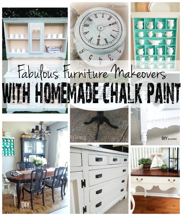 furniture painted with DIY chalk paint