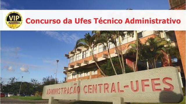 Concurso UFES 2019 abre 09 vagas de Técnico Administrativo