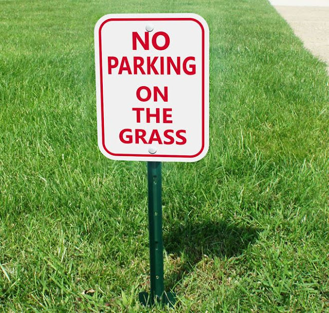 how to stop cars from parking on the lawn