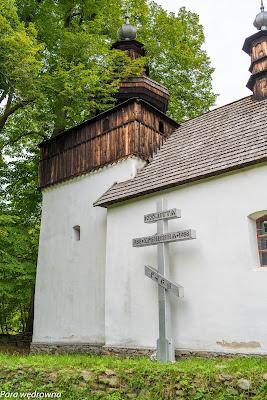 Cerkiew w Bielicznej, krzyż z okazji 1000-lecia chrztu Rusi