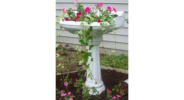 recup lavabo jardin