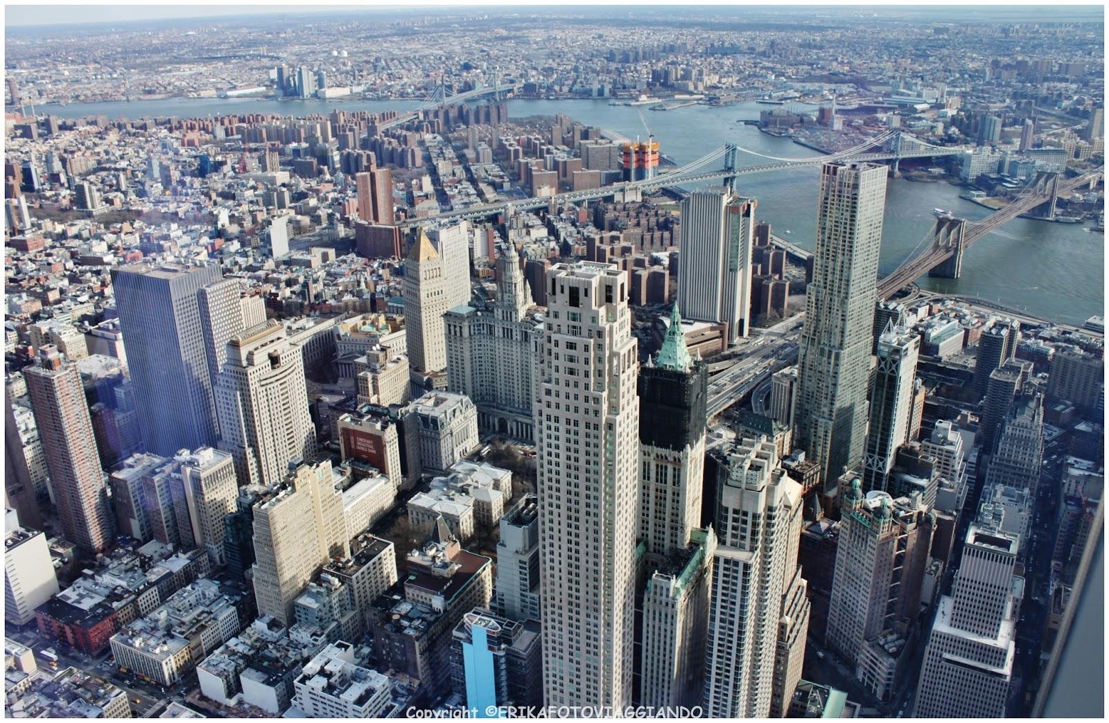 Erikafotoviaggiando new york dall 39 alto del one world for New york dall alto