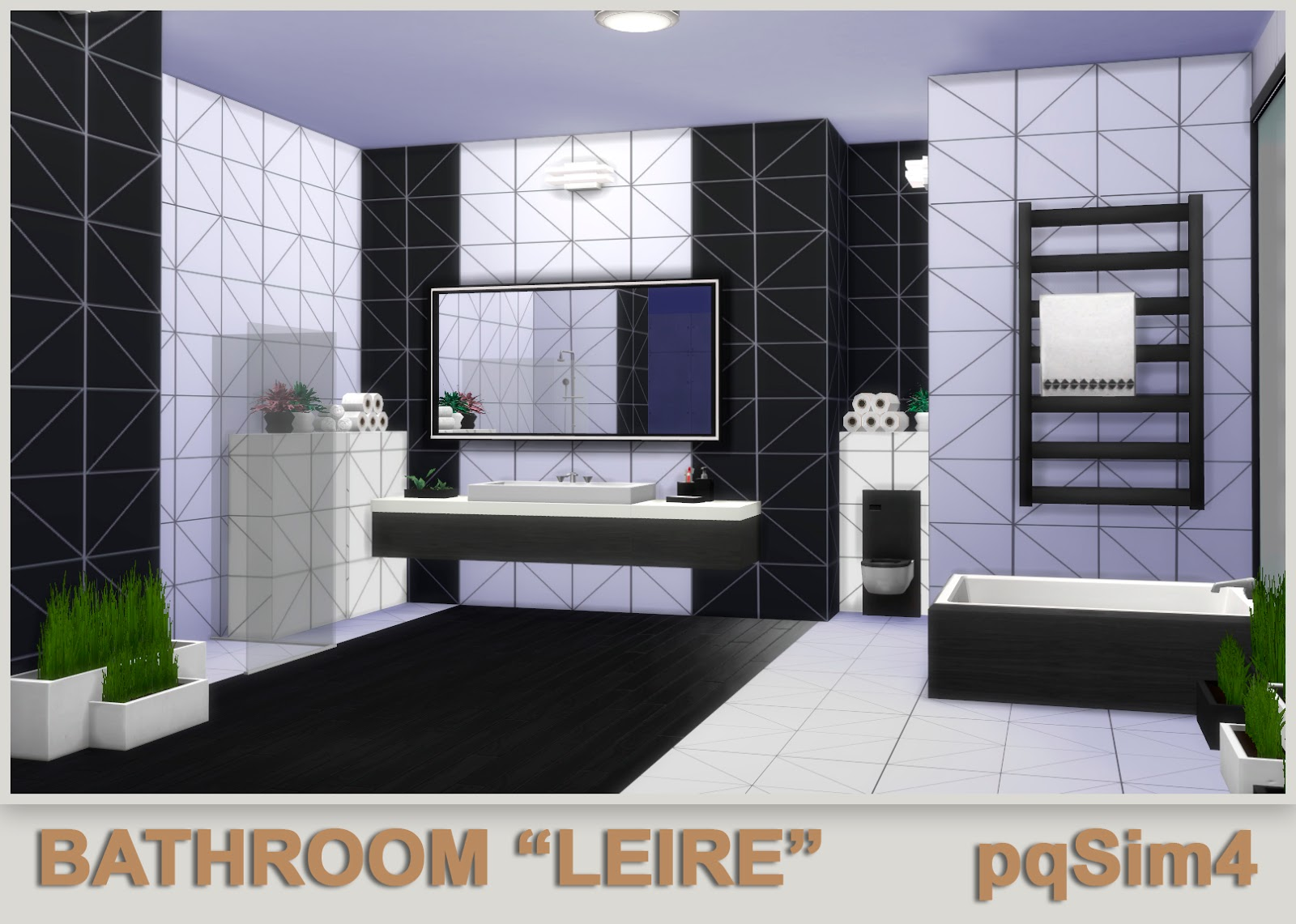 """I am peacemaker ic and i am a creator of sims custom content (currently ts4). Bathroom """"Leire"""". Sims 4 Custom Content."""