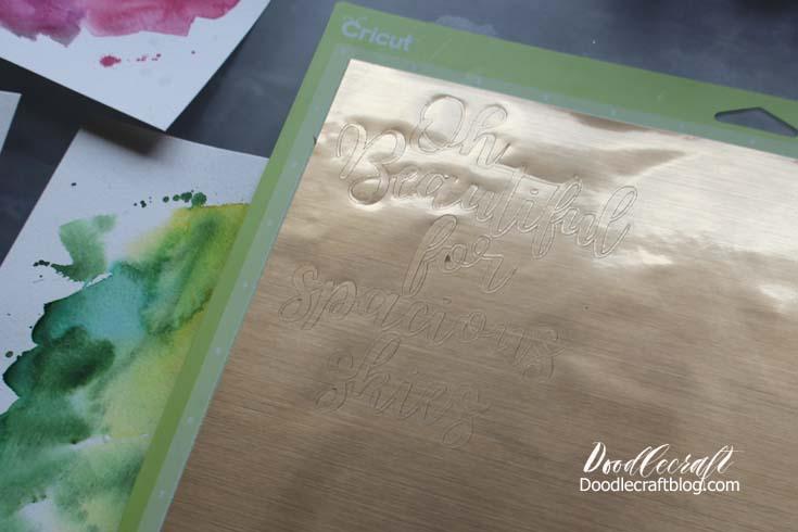 Watercolor Vinyl Calligraphy Cricut Explore Air 2