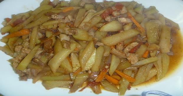 Guinisang Chayote Recipe