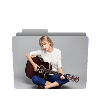 Preview of Taylor Swift with guitar, photoshoot folder icon