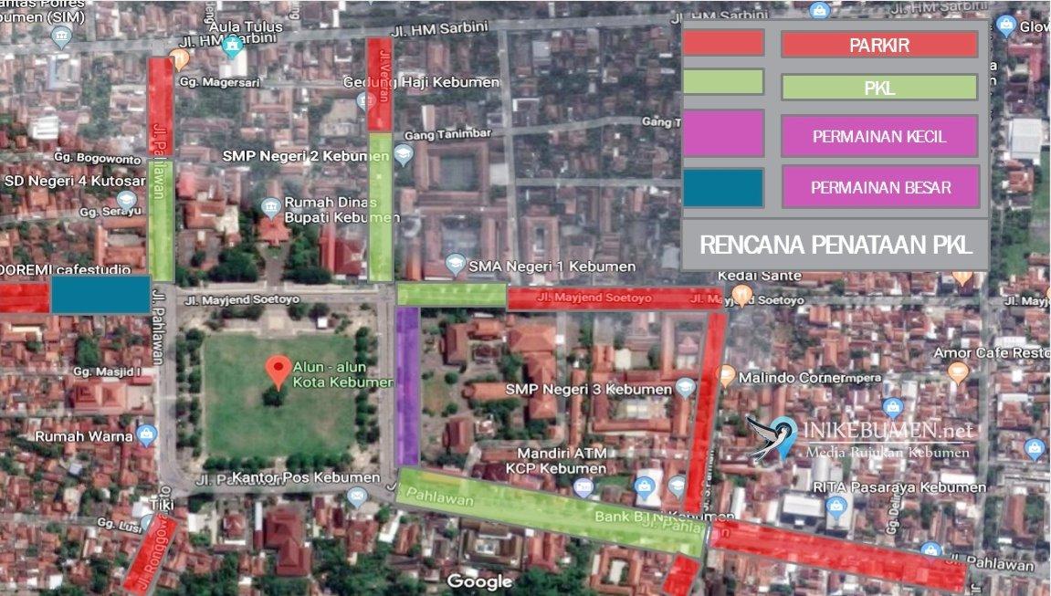 Car Free Day Kebumen Bakal Diperluas, Alun-alun Harus dari Steril PKL