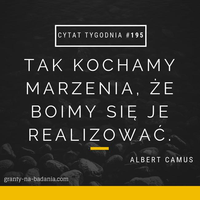 Tak kochamy marzenia, że boimy się je realizować. - Albert Camus
