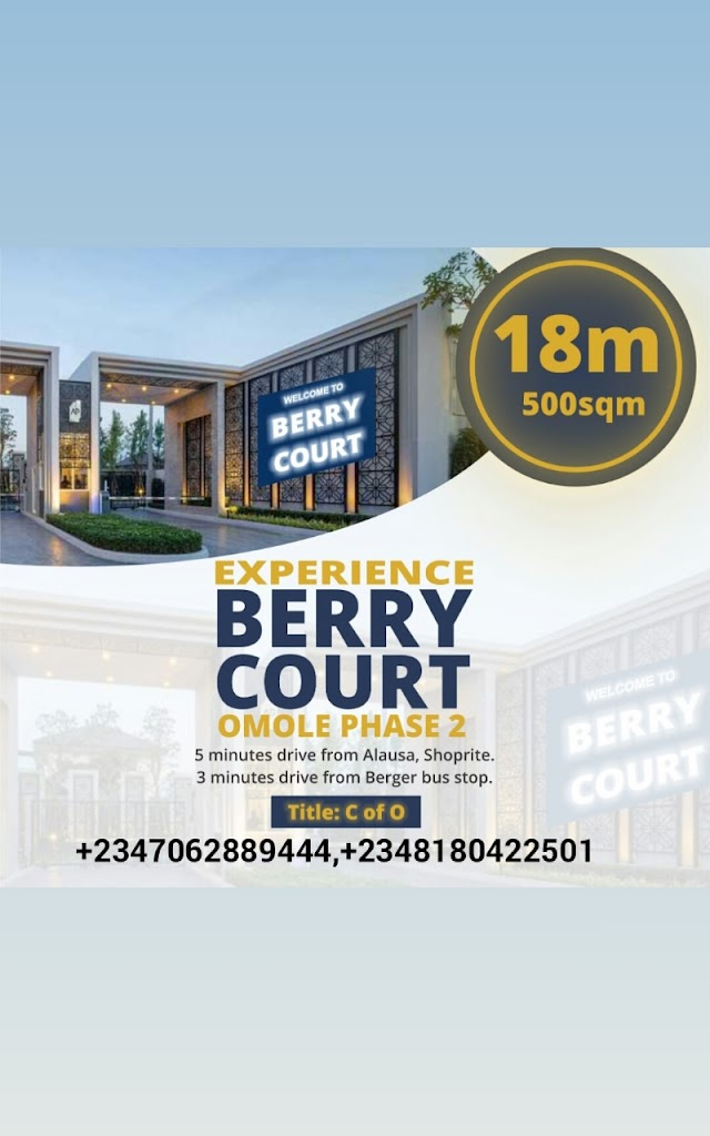 BERRY COURT, OMOLE PHASE 2 EXTENSION, LAGOS (LAND FOR SALE)