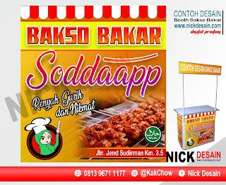 Contoh Desain Spanduk Booth Stand Burger Dewi Bakso Bakar | Percetakan Tanjungbalai