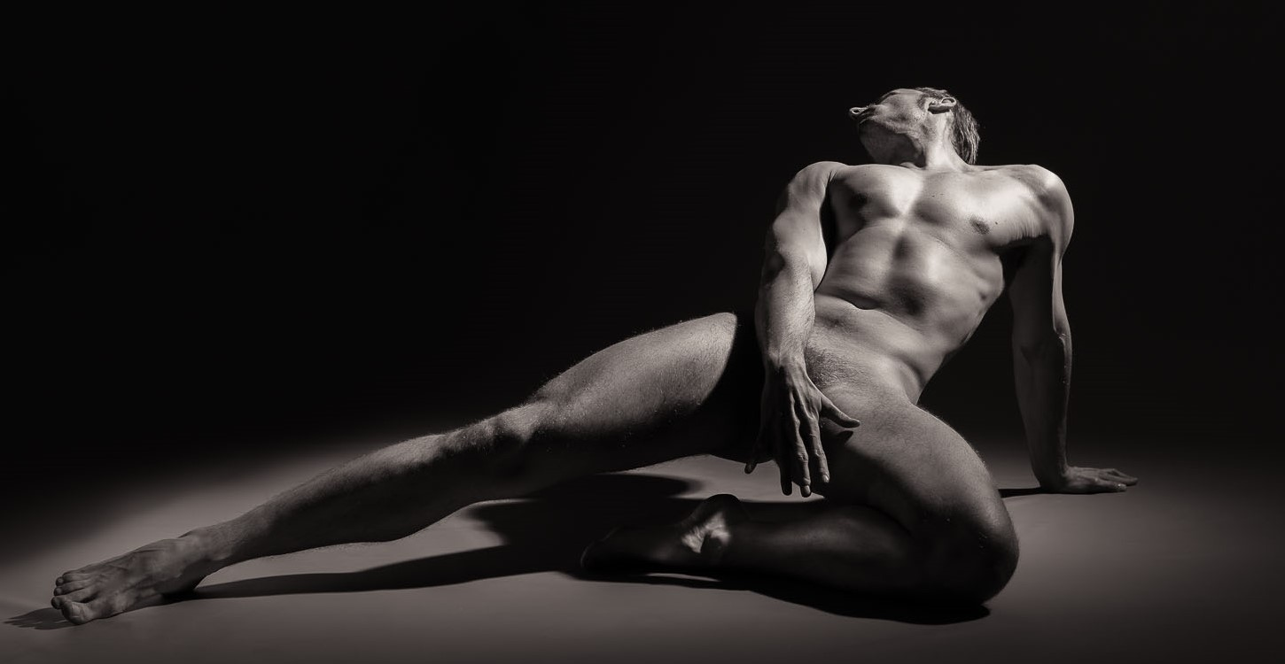 Black and white nude male photography