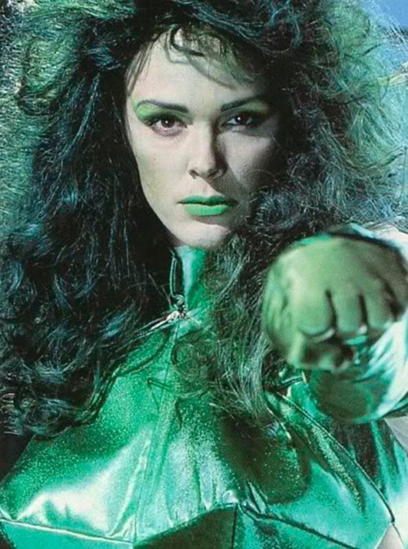 Hulka, She-Hulk, Brigitte Nielsen, Lou Ferrigno, Bill Bixby, Gabrielle Reece, Mitzi Kapture, Melissa Gilbert, Jill Sherman Donner, Carl Gottlieb, Hulk