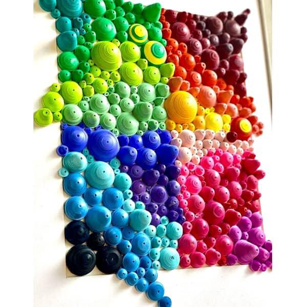 quilled multicolor art piece