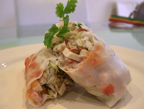 Tofu and Chicken Spring Roll