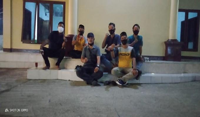 Pererat Sinergitas, Polsek Cikande Ngopi Bareng Forum Jurnalis Serang Raya