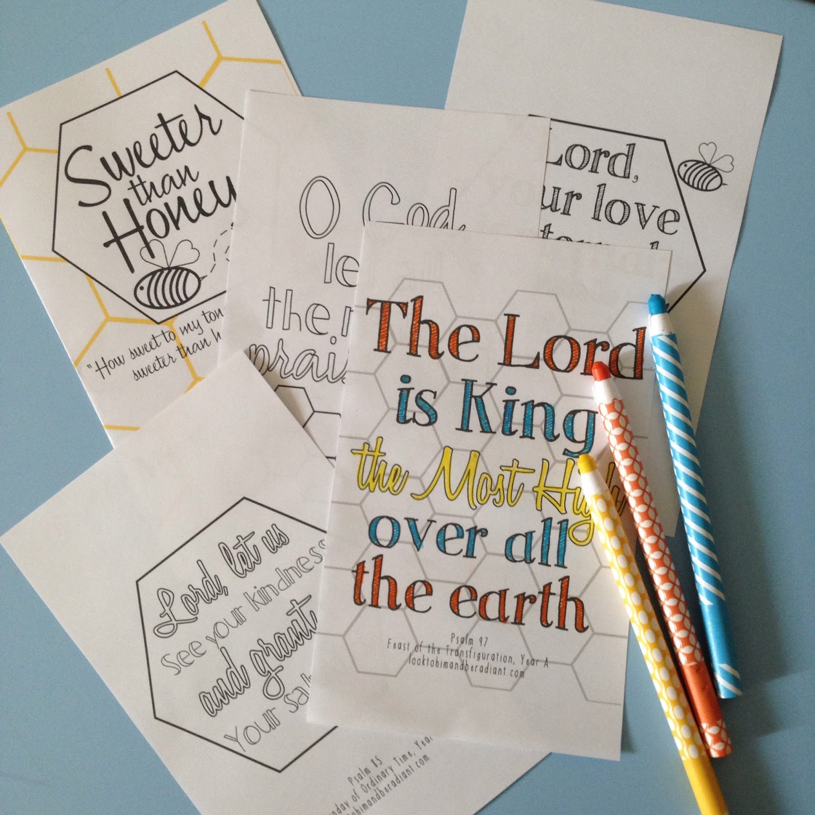 Sweeter Than Honey Psalm Coloring Pages August