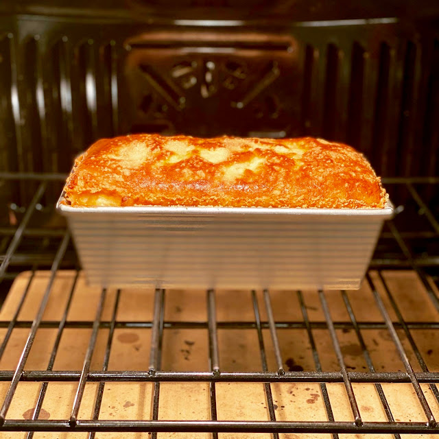 Cheese Soufflé in a Loaf Pan