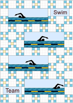 possible swimming theme quilt layout