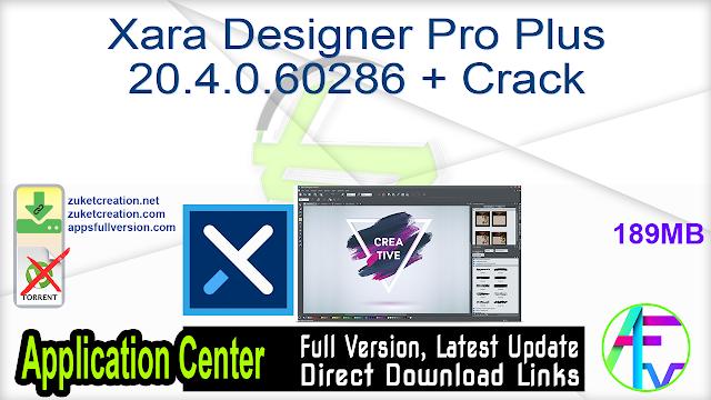 Xara Designer Pro Plus 20.4.0.60286 + Crack